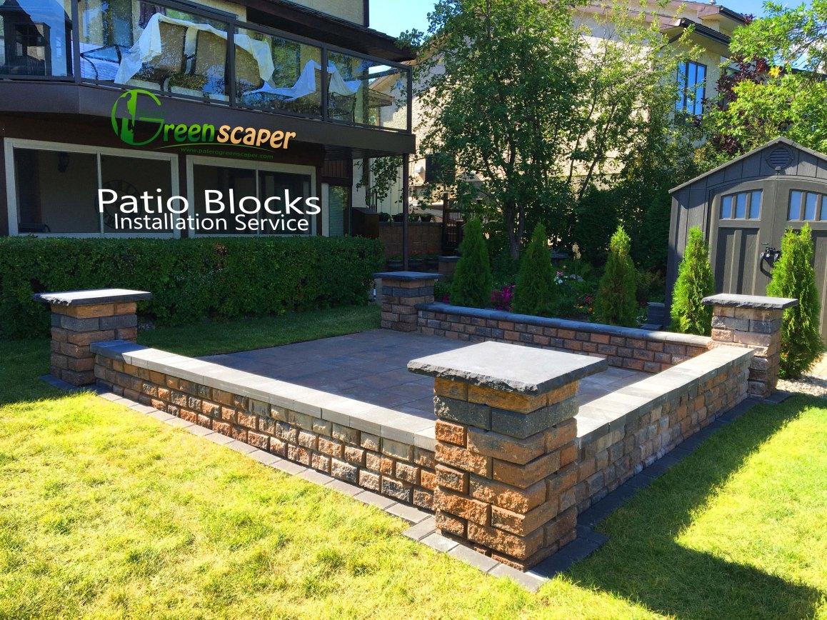 paver patio blocks installation project in regina 2018 - Patio Installation